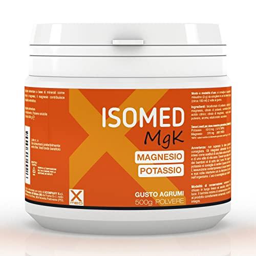 ISOMED MGK - Magnesio e Potassio - 500 grammi in barattolo - Riduce la fatica - per afa, caldo e stanchezza - XMED