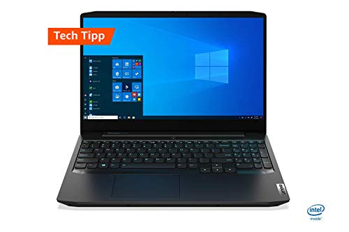 Lenovo IdeaPad Gaming 3i  Laptop 39,6 cm (15,6 Zoll, 1920x1080, FHD, IPS, matt) Gaming Notebook (Intel Core i5-10300H, 8 GB RAM, 512 GB SSD, NVIDIA GeForce GTX 1650, Windows 10 Home) schwarz