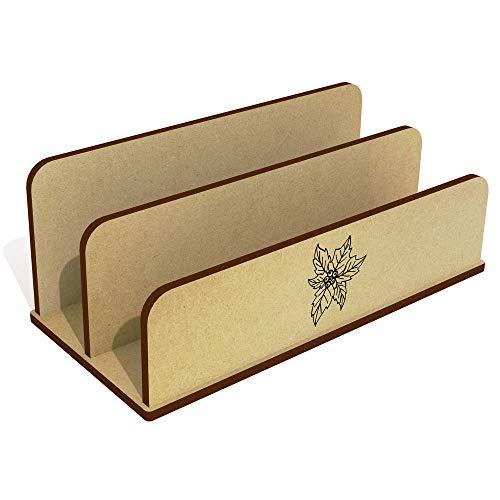 Azeeda 'Poinsettia' Wooden Letter Rack / Holder (LH00037657)