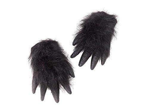 Bristol Novelty BA104 Gorilla Hände, schwarz, Einheitsgröße