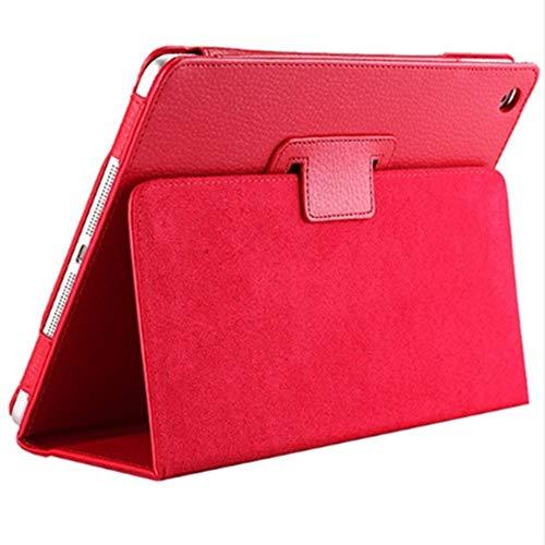 Libertroy Funda magnética de Cuero con Soporte Inteligente para Apple iPad 4 3 2 Mini Air 2 Pro Profesional y Elegante - Rojo