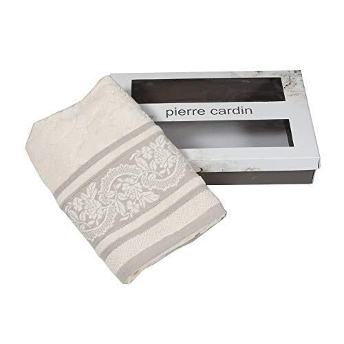 Vania Pierre Cardin - Juego de toallas 1 + 1 color crema