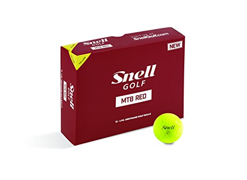 Snell MTB Red My Tour Golf Balls, Yellow (One Dozen)