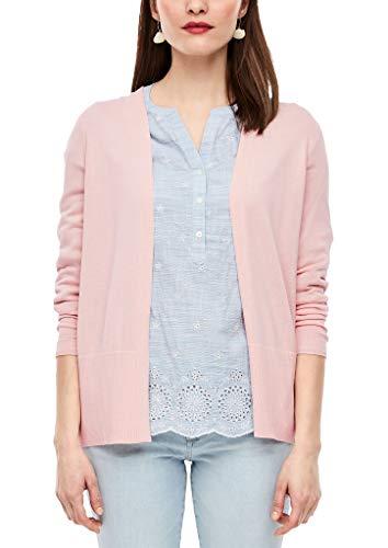 s.Oliver RED Label Damen Open Front-Jacke aus Feinstrick Light pink 40