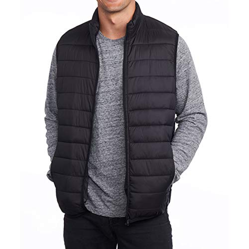 Alpine Swiss Clark Mens Lightweight Down Alternative Vest Jacket Black Medium