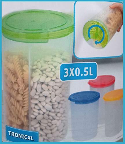 TronicXL 2 er Set XXL Frischhaltedose Vorratsbehälter Kunststoff Nudeln Müsli Zucker Dose Schüttdose 1,5L Küche Aufbewahrungsbox Vorratsdose Küchendosen Küchendose Frischhaltedosenset Box Boxen