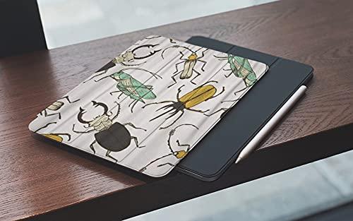 Funda para iPad 10.2 Pulgadas,2019/2020 Modelo, 7ª / 8ª generación,Marrón Bicho Dibujos Animados Divertido Saltamontes Ciervo Escarabajo Infantil Perfe Smart Leather Stand Cover with Auto Wake/Sleep