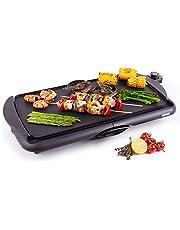 Duronic GP20 Elektrische grill | 2000 W Anti-aanbak Teppanyaki bakplaat | 52 x 27 cm | Gourmet grill | Vetopvangsysteem | Eenvoudige Schoonmaak | Verstelbare Temperatuur | Binnen BBQ | Tafelgrill