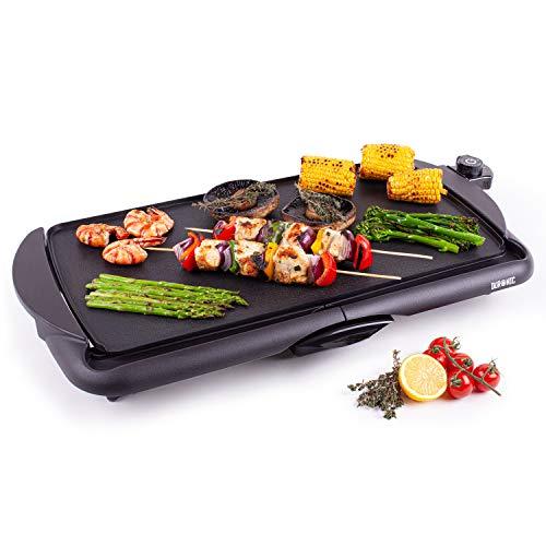 Duronic GP20 Plancha de asar grill eléctrico - Parrilla de cocina antiadherente...