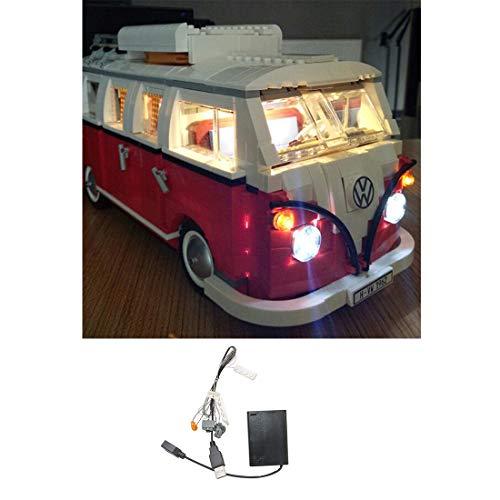 Yavso USB Beleuchtungsset für Lego, LED-Licht Set LED Beleuchtung Baustein Spielzeug Licht Set für Lego 10220 Volkswagen T1 Campingbus (Nicht enthalten Lego-Modell)