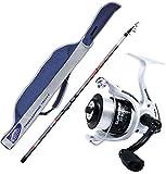 agc Kit Bolognese Canna Fodero Angelrolle Filo, Bolognese Beta 5 m + Rolle Evo Fishing Supreme 3000 + Cordura -