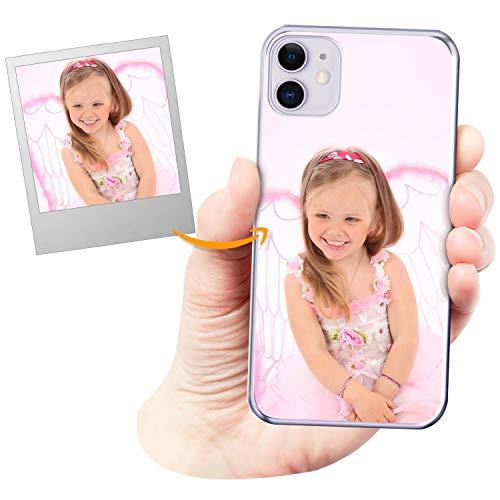 Coverpersonalizzate.it Cover Personalizzata per Apple iPhone 11con la Tua Foto, Immagine o Scritta - Custodia Morbida in TPU Gel Trasparente - Stampa di altissima qualità