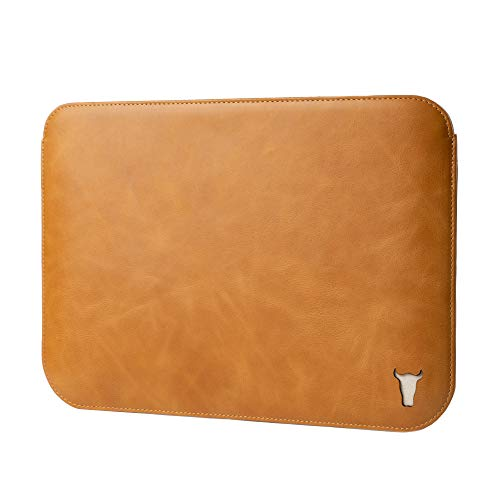 TORRO Genuine Leather Tablet Sleeve Compatible with iPad Air 4th Gen [Felt Lined] [Slim Profile] (Tan)