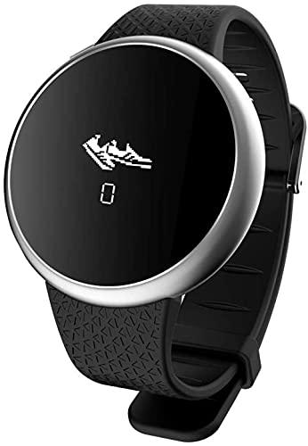 JSL Reloj inteligente deportivo impermeable con pantalla grande, monitor de actividad, contador de calorías, SMS y SNS Recordatorio de llamadas tomar foto amarillo-negro