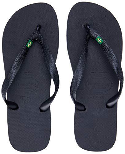 Havaianas Men's Brazil Flip Flop Sandal, Black, 11/12 M US