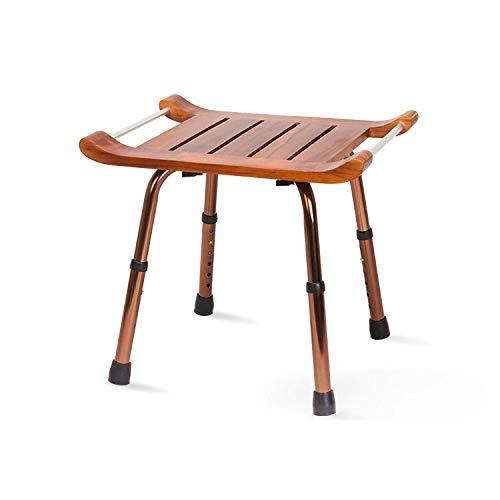 GHzzY houten douchecabine - Spa douchestoel met armen en antislipvoetjes - verstelbaar bad Antimicrobiële stoel voor ouderen & Handicap