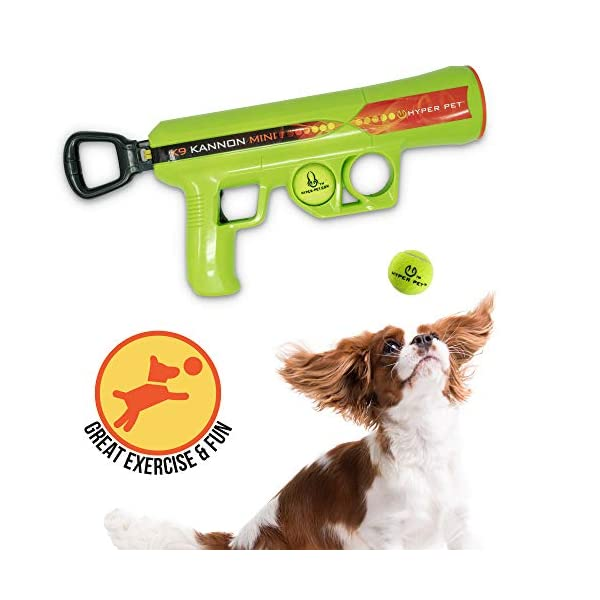 Hyper Pet K9 Kannon K2 Ball Launcher Interactive Dog Toys (Load and Launch Tennis Balls for Dogs To Fetch) [Best Dog Toys for Small and Large Dogs – Available in 2 Sizes]
