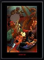 ポスター ジャスティン ブア Jazz Quintet 額装品 ウッドハイグレードフレーム(ブラック)