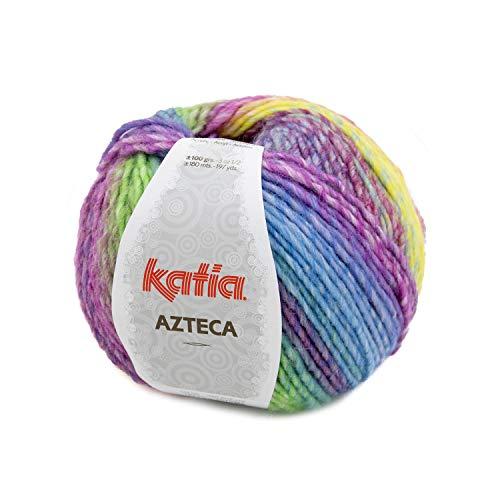 Katia Azteca Wolle mit Farbverlauf zum Stricken und Häkeln für Nadelstärke 5-5,5 mm (7871, 100 Gramm)