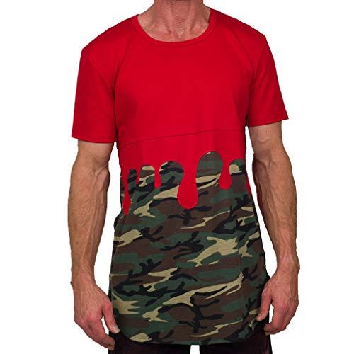 CICIYONER Herren Camouflage T-Shirt Army Military Bundeswehr Tarnfarben Grün Kurzarm Rundhals Shirt Oversize Custom Fit in vielen Farben Vegan