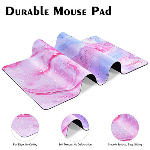 Gaming Mouse Pad, veecom Large Mouse Pad XL, Big Mouse Pad for Computer Gamer, Thick Gaming Mousepad Large 31.5×15.75In, Extended Keyboard Mouse Pads for Desk, Non Slip Mouse Mat (Pink) Photo #2
