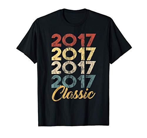 4º. Cumpleaños Nacido en 2017 Vintage 4 Retro Bday Regalo Camiseta