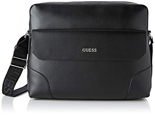 Guess Herren Manhattan Business Tasche, Schwarz (Black), 8x25x33 centimeters