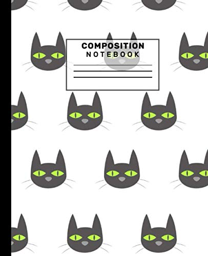 """Halloween composition notebook: Black Cat 