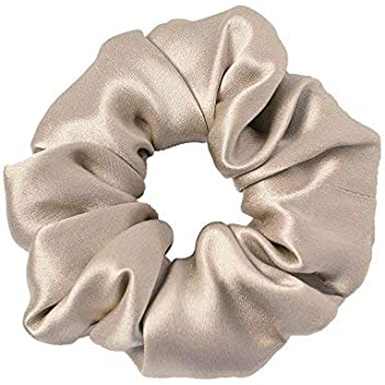 LilySilk 100% Silk Charmeuse Scrunchy -Ropes Hair Bands -For Hair - Silk Scrunchies For Women Soft Hair Care Coffee Christmas Thanksgiving Day