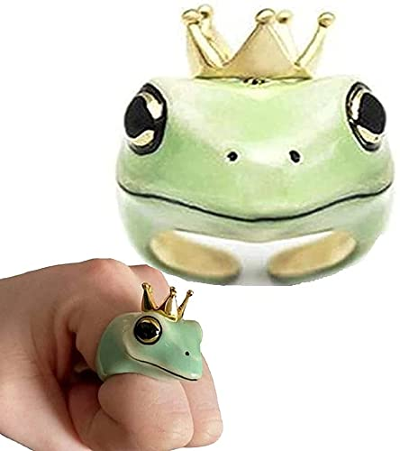 Enamel Frog Ring- Cute Animal Finger Ring, Original Frog Gold Plating Finger Ring, Fashionable Cute Frog Shape Couples Jewelries (7)