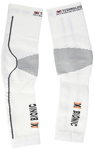 X-Bionic Erwachsene Funktionsbekleidung Biking OW Arm Warmer DX SX No Seam, White/Anthracite, S/M
