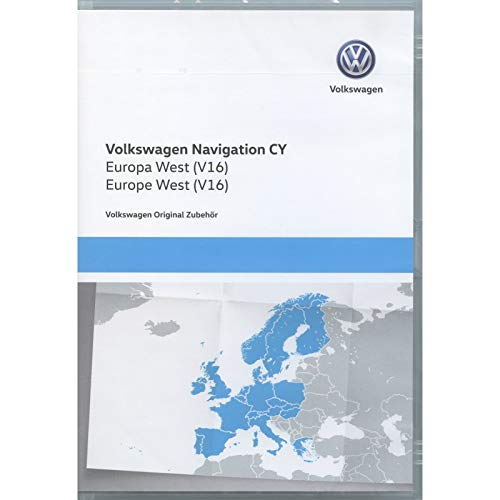Volkswagen 1T0051859AQ Original DVD-ROM Navigation V16 Europa West RNS 510/810 Navigationssystem CY Navi Software VW Update