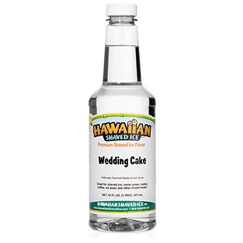 Hawaiian Shaved Ice Syrup, Wedding Cake, Pint