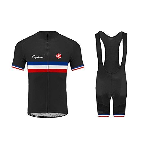 Uglyfrog Set Abbigliamento Ciclismo Estivo, Completo Ciclismo Maniche Corti + Salopette 360 Gradi Traspirante per Uomo Ciclismo DXC27