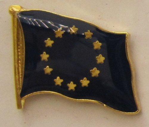Pin Anstecker Flagge Fahne Europa / Europarat Europäische Union Flaggenpin Badge Button Flaggen Clip Anstecknadel