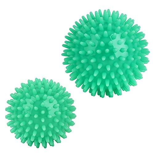 AirCover Massageball, Set 2er Igelball. Fitness Noppenball für Hand Fuß Rücken Muskelmassage, Werkzeug für Plantarfasziitis. Triggerpunkt Massagebälle, Gymnastikball in verschiedenen Größen (7cm/9cm)