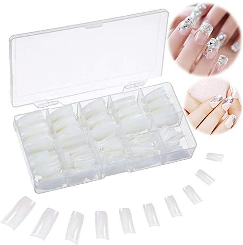 Nägel Tips 500 Stück Nail Tips Falsche Nägel Acryl UV Gel Natürlich Französisch Fake Nails mit Box für Frauen Mädchen