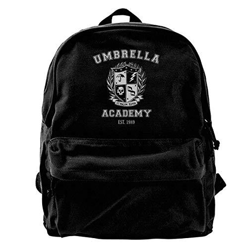 Canvas Rucksack Umbrella Academy Varsity School Crest Rucksack Gym Wandern Laptop Umhängetasche Daypack für Männer Frauen