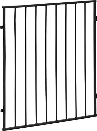 ib style® CATO | Kaminschutzgitter | erweiterbar | Doppelverschluss | Einzelelement Schwarz