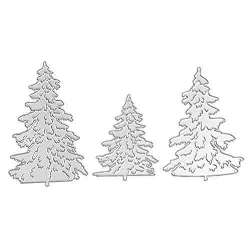 Whitelotous Different Patterns Metalic Christmas Cutting Dies Stencil DIY Scrapbooking Album Paper Card (Type A)