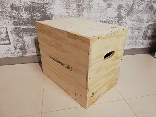 Box pliometrico allenamento palestra workout crossfit esercizio per saltare jump scatola legno multistrato 60 x 50 x 40 cm