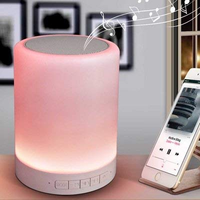 Azacus Wireless Portable Bluetooth Speaker with Smart Touch LED Mood Lamp, SD...