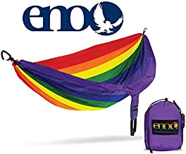 ENO - Eagles Nest Outfitters DoubleNest Print Lightweight Camping Hammock, 1 to 2 Person, Special Edition Colors, Prism Pride, DP-241, One Size