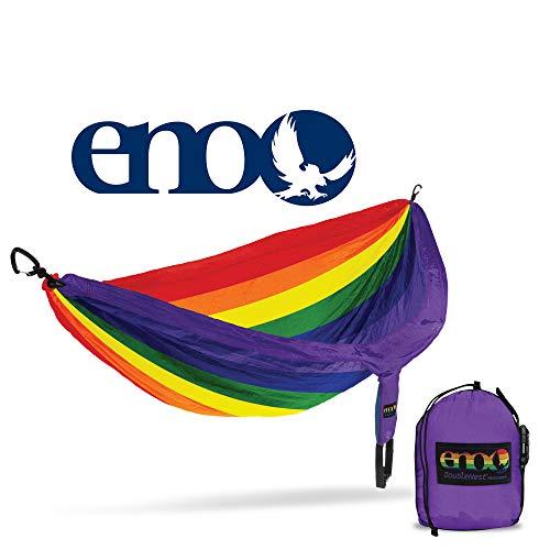 ENO – Eagles Nest Outfitters DoubleNest Druck, leichte Camping-Hängematte, 1 bis 2 Personen, Sonderedition Farben, Prism Pride, DP-241, Einheitsgröße