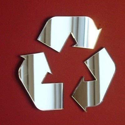Super Cool Creations Espejos para Cartel de Reciclaje, 12 cm x 11 cm