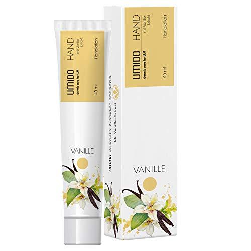 4 für 3 Aktion UMIDO Hand-Lotion Set 45 ml Vanille-Extrakt | 4 Stück zum Preis für 3 Stück | Handcreme | Pflegecreme | Lotion | Hautpflege | Handcreme Set