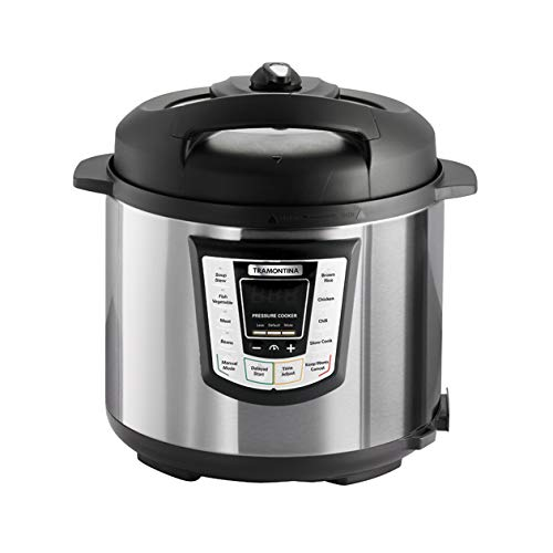 Tramontina 80130/505DS Multi - Use Electric Programmable Nonstick Inner Pot Pressure Cooker,...