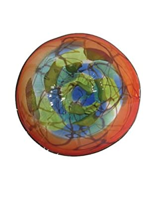 Dale Tiffany Hankley Art Glass Wal Decor Plate from Dale Tiffany--DROPSHIP
