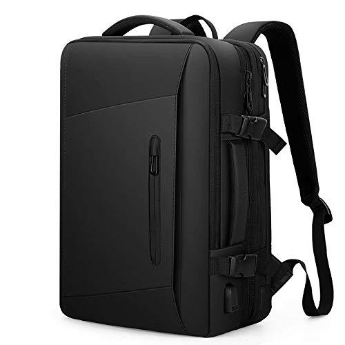 拡張防水ビジネスバックパックレインコートキャリーオントラベルバックパックレインカバーのUSB防水ポートのための学校の旅行仕事バッグは17.3 / 15.6インチのノートパソコンに適合充電