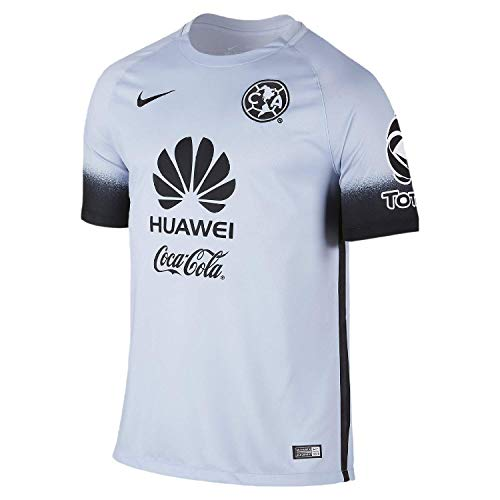 Nike Club America Short Sleeve Decept Stadium Jersey (Little Kids/Big Kids) Porpoise/Black/Black XL